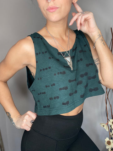 HE Collective Green Loose Crop Top