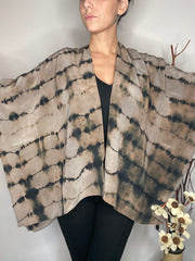HE Collective Grey Washed Silk Shawl