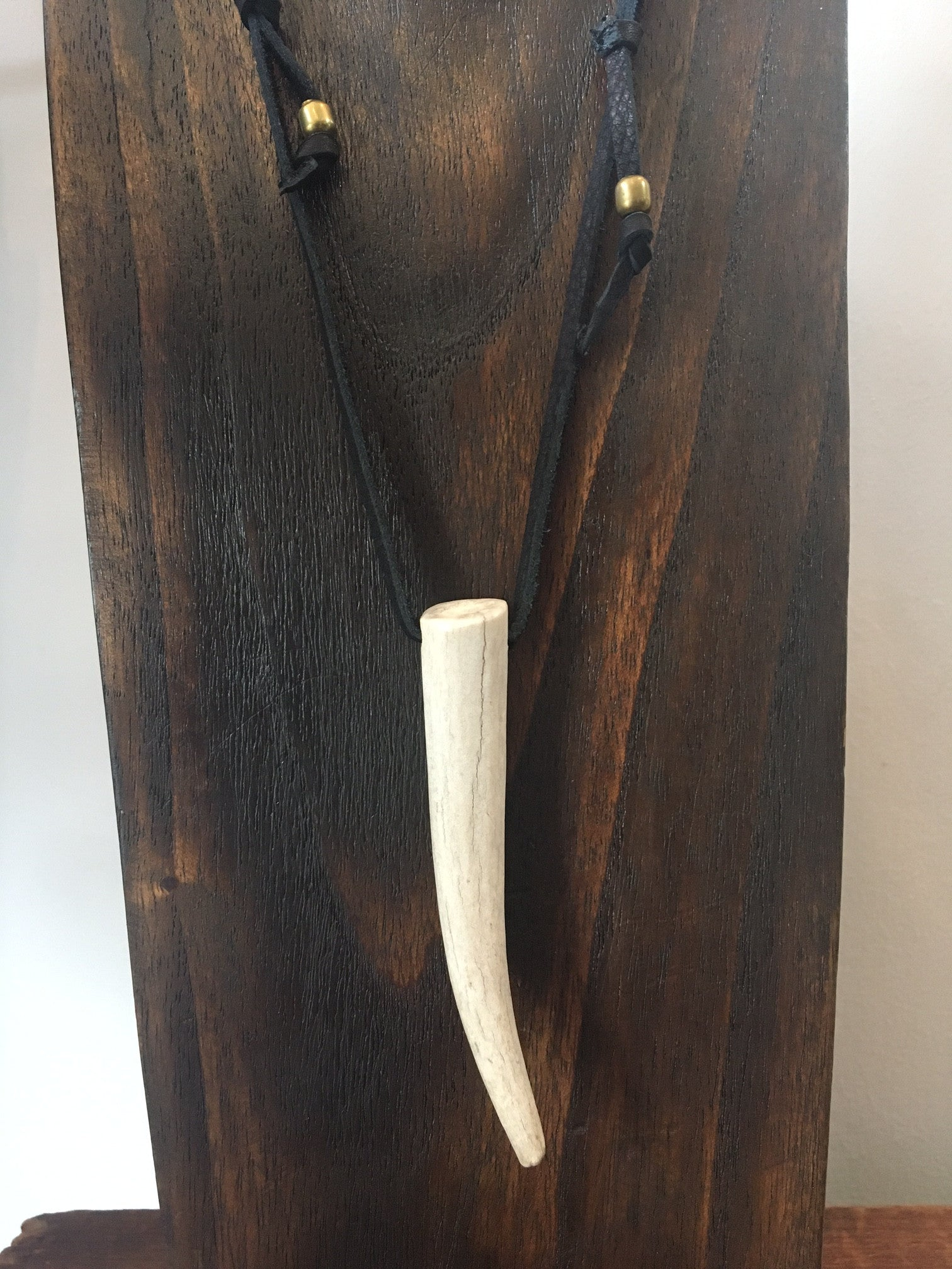 Moon + Arrow Antler Necklace