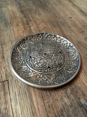 New Age Silver Mandala Incense Holder