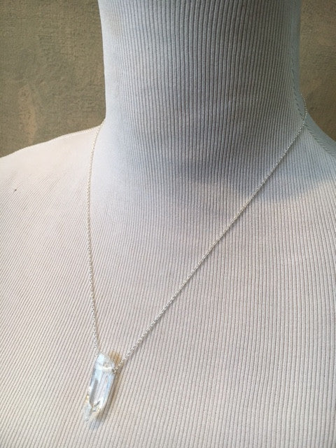 Toile Crystal and Sterling Silver Necklace