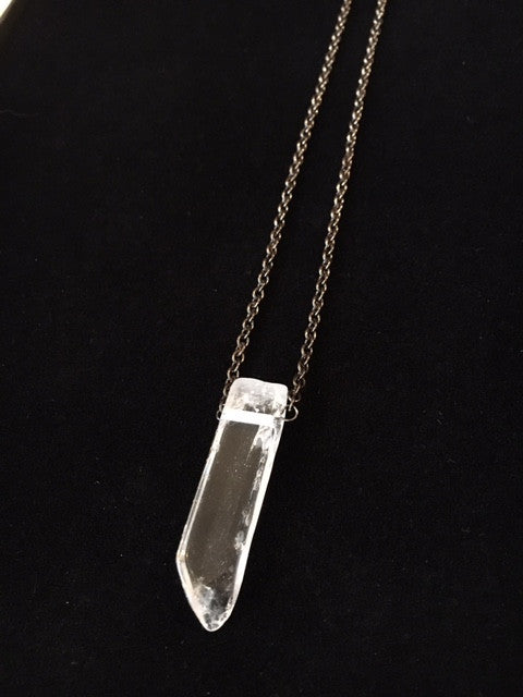 Toile Crystal and Gunmetal Necklace - 3 Lengths