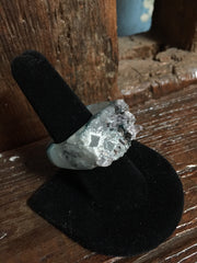 Nuance Blue Natural Stone Druzy Rings