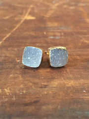 Nuance Druzy Post Earrings