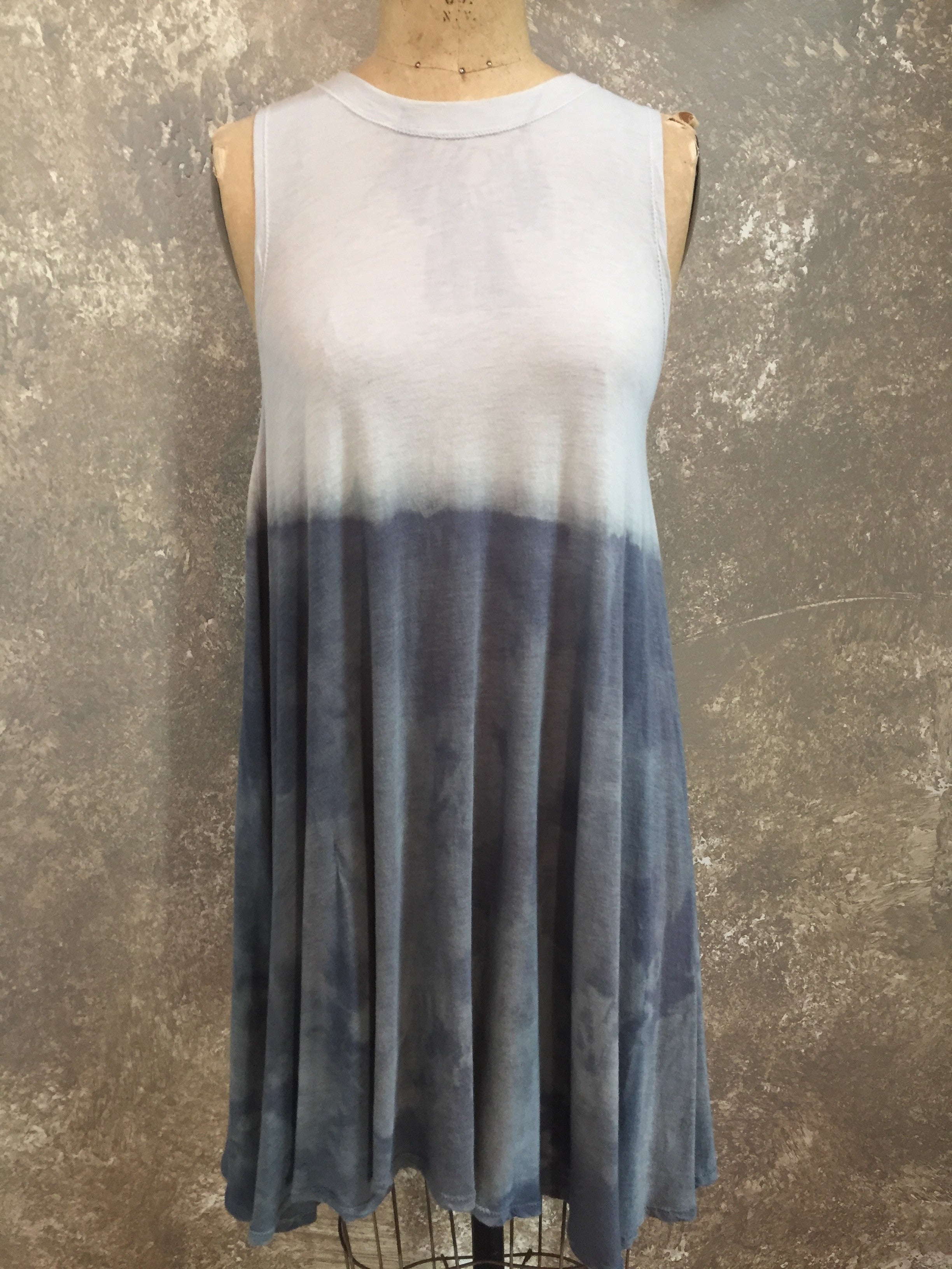HE Collective Hand Dyed Sleeveless Swing Dress
