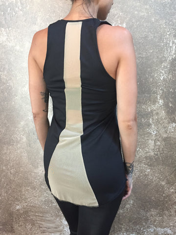 Bianca Rachele Sheer Panel Back Tank