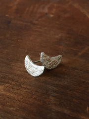 Vannucci Sterling Silver Moon Studs