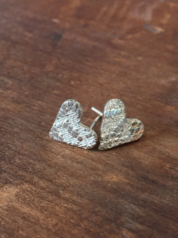 Vannucci Sterling Silver Heart Studs