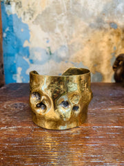 Dennis Higgins Screamer Skull Vermeil Cuff - Large