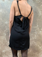 Bianca Rachele Black Tie Back Dress