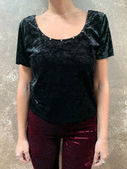 Tough Luv Velvet Studded Tee
