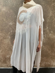BlckBts Lunacy Kaftan - White/Gold