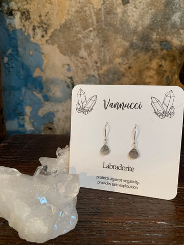 Vannucci Silver Labradorite Teardrop Earrings