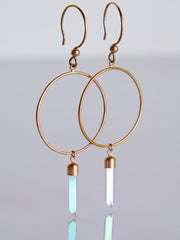 Idol Light Twinkle Front Facing Hoop Gold