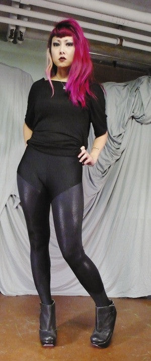 Sophi Reaptress Shiny Black Leggings