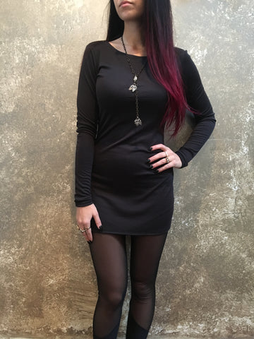 Bianca Rachele Grey Rib Knit Dress