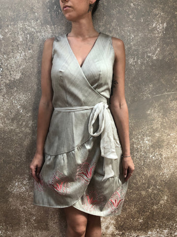 Bianca Rachele Silk Wrap Dress