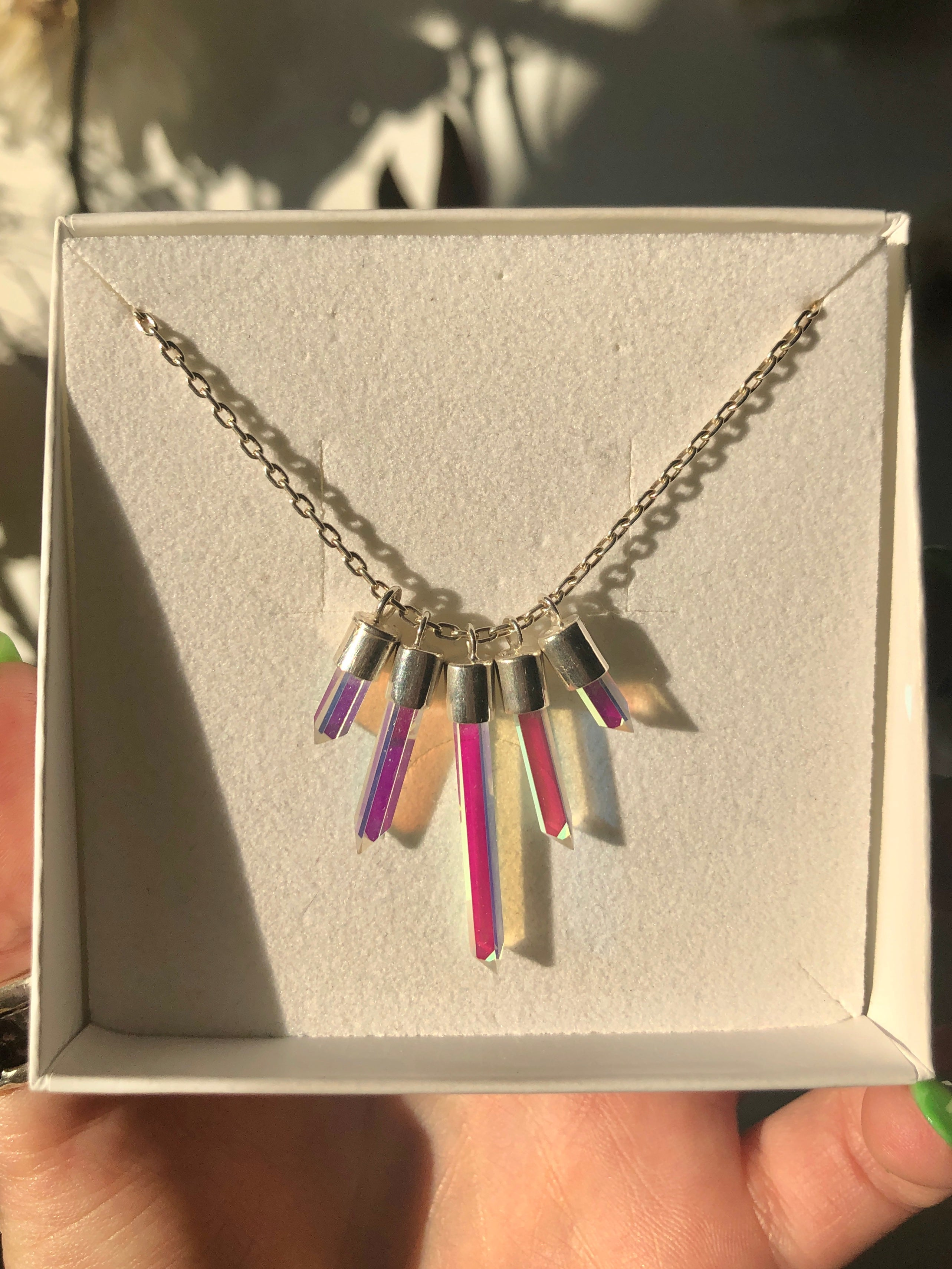 Idol Light Quintuple Twinkle Necklace