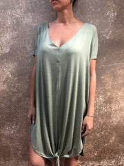 Bianca Rachele Sage Front Tie Dress