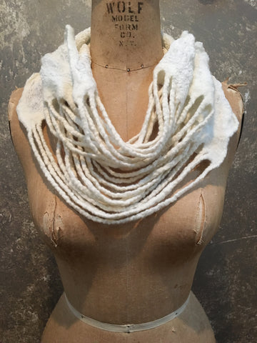 BlckBts Felted Cream Strand Cowl
