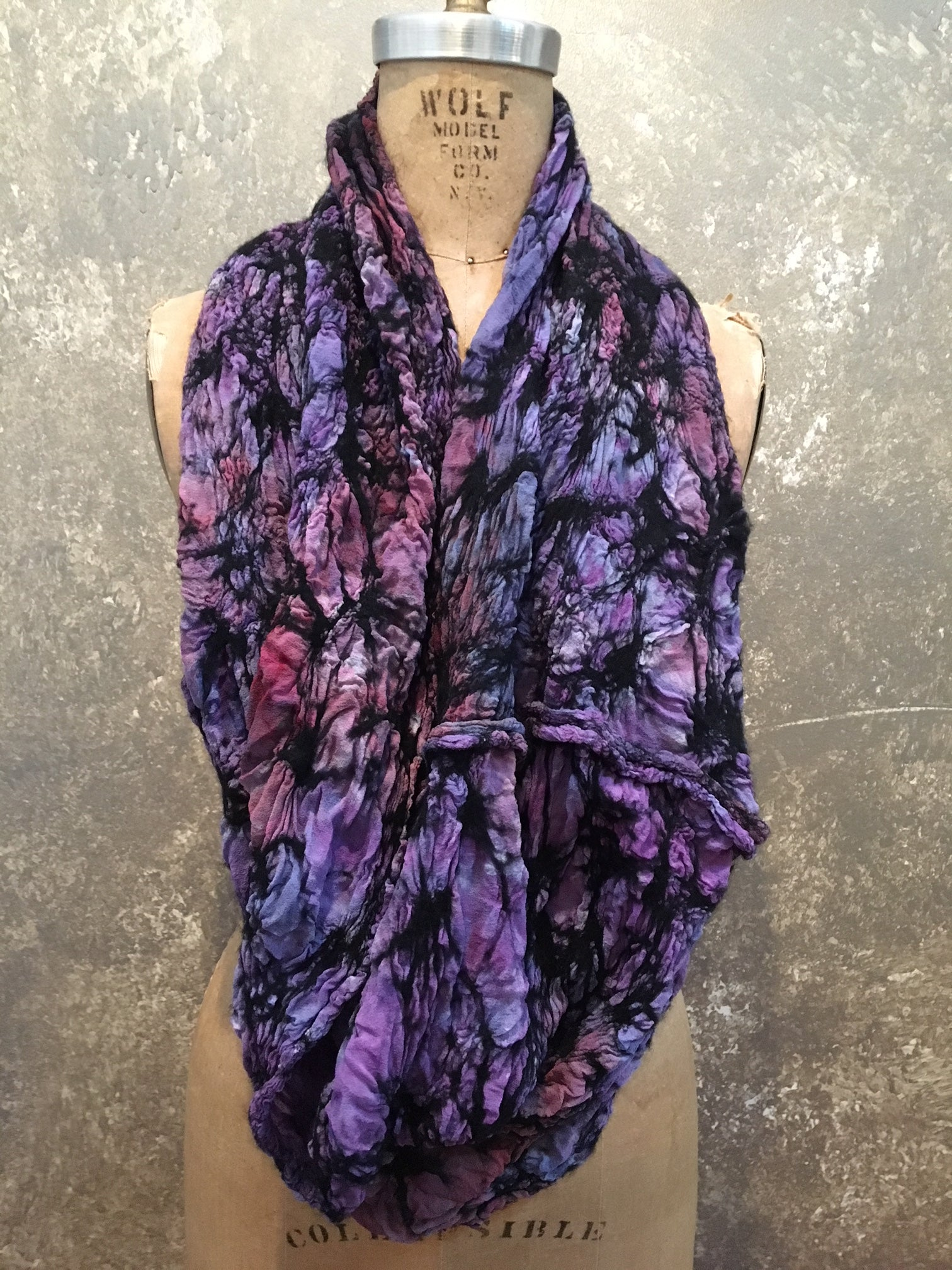 BlckBts Purple Infinity Scarf