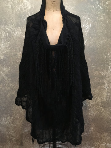 BlckBts Felted Black Wrap