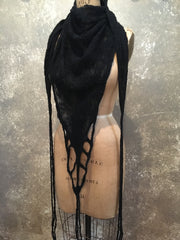 BlckBts Felted Scarf- Lattice and Fringe