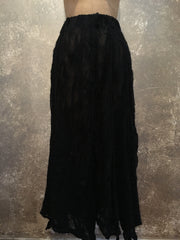 BlckBts Felted Black Long Skirt