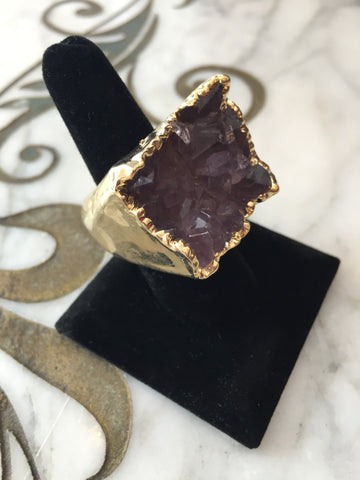Nuance Purple Gold Plated Ring