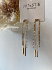 Nuance Crystal Drop Fringe Earrings