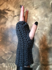 April Hand Crochet Charcoal Hand-warmers