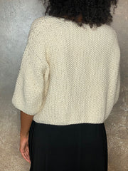 Studio Ked Cream Seed Stitch Cardigan