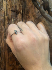 Dennis Higgins Mini Silver Skull Ring
