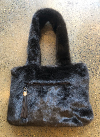 Moods and Madness Furry Chocolate Shoulder Bag