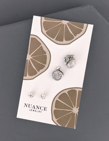 Nuance Lemon Earring Set