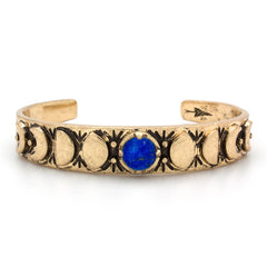 Hiouchi Moon Phases Cuff Bracelet | Gold |
