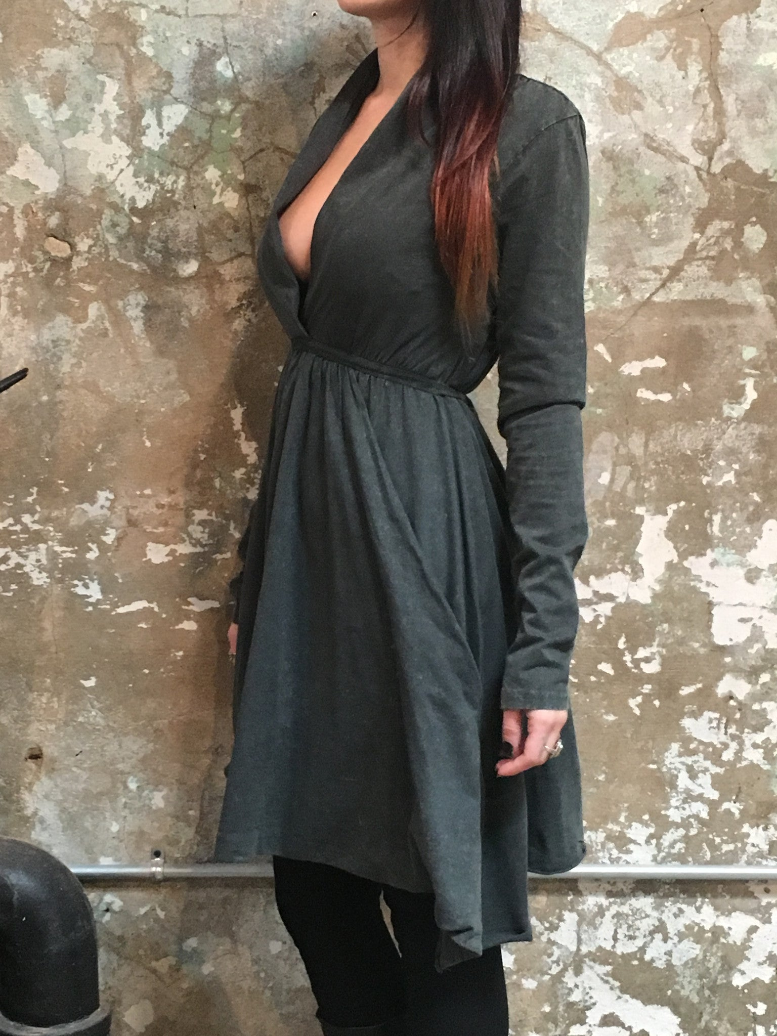 Tough Luv Grey Goddess Dress Charcoal