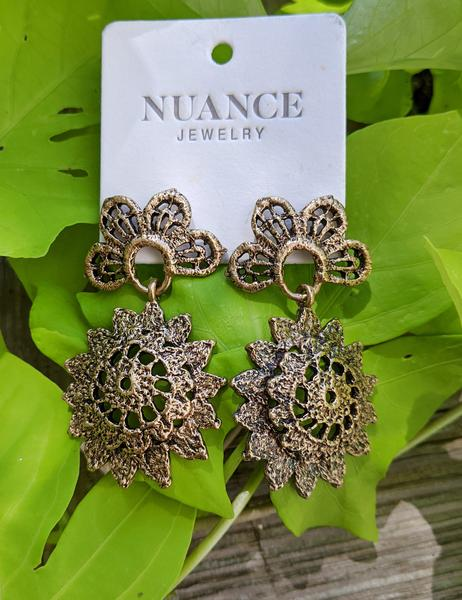 Nuance Riviera Lace Sunshine Garden Earrings