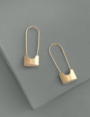 Nuance Safety Pin Earrings