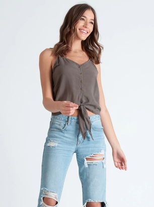 NYTT Button Tie Cami Top