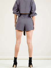 LUCCA Couture High Waist Belted Shorts
