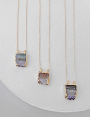 Nuance Mini Geode Slab Necklace | MORE COLOR OPTIONS |