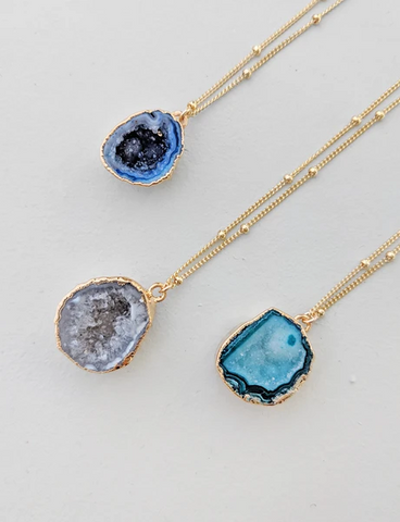 Nuance Geode Cave Necklace | MORE COLOR OPTIONS |