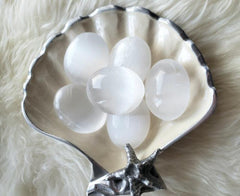 Witch's Way Selenite Palm Stone