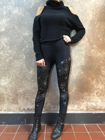 Sophi Reaptress Holographic Spiderweb  Leggings
