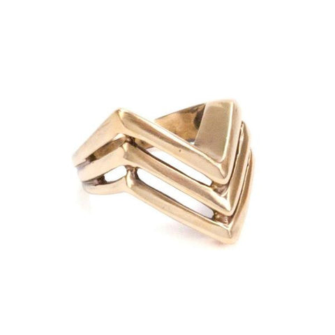 Tribe Apex Ring Gold
