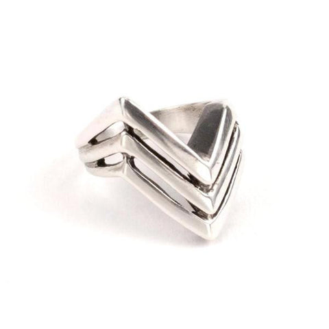 Tribe Apex Ring Silver