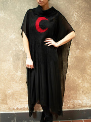 BlckBts Lunacy Kaftan - Black/Red
