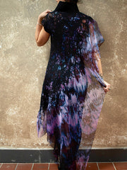 BlckBts Felted Nebula One Sleeve Kaftan