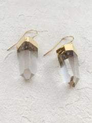 Nuance Quartz Point Drop Earrings